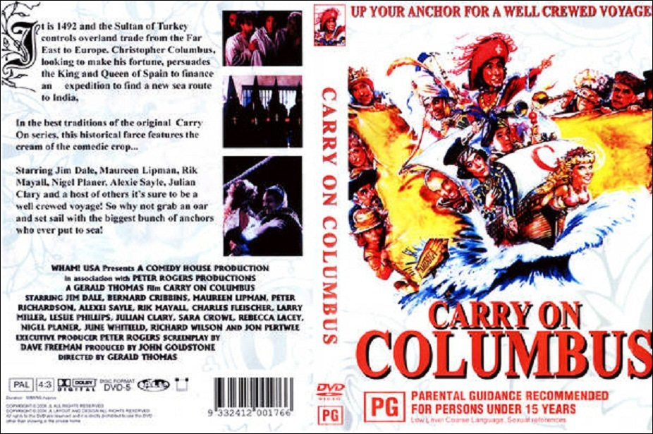 DVD Cover For Carry On Columbus