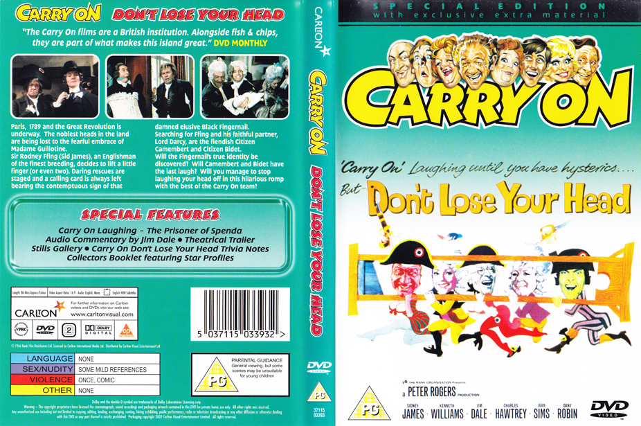 Entertainment Dvd Cover Lose Your Head Dvd Cover