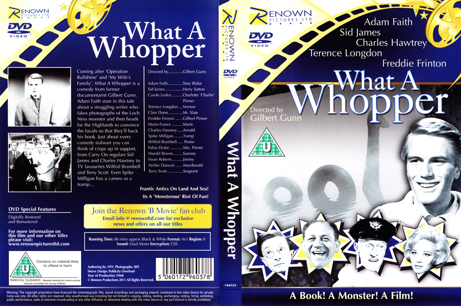 DVD Cover For What A Whopper